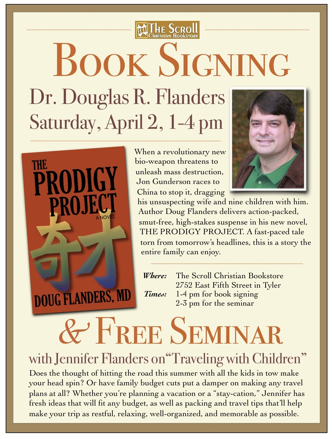Book Signing/ Free Seminar at The Scroll