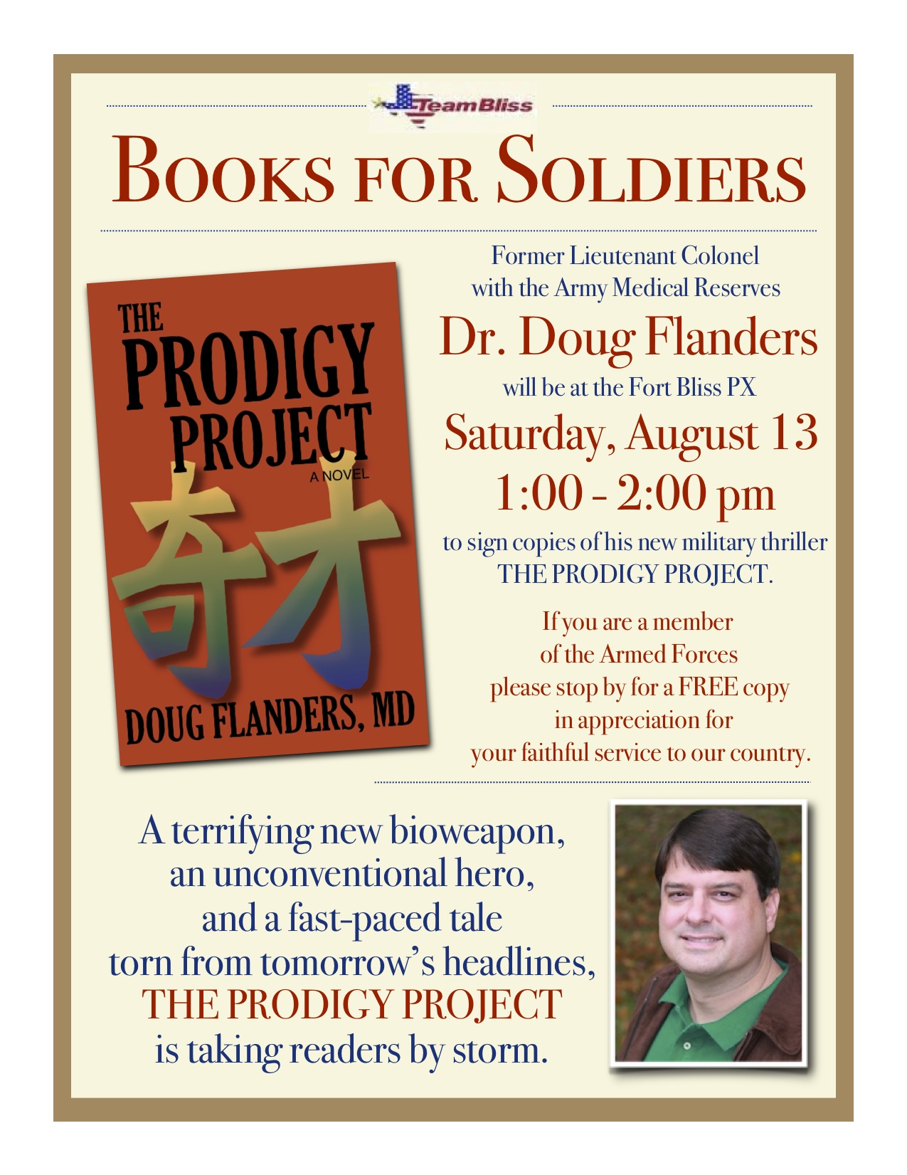 Doug Flanders Returns to Fort Bliss