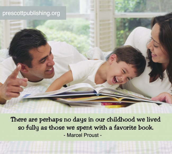 """There are perhaps no days in our childhood we lived so fully as those we spent with a favorite book."" - Marcel Proust"