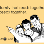 The family that reads together succeeds together. Happy National Reading Day!